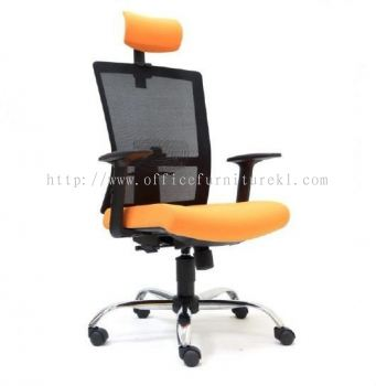 EXOTIC HIGH BACK ERGONOMIC MESH CHAIR WITH CHROME METAL BASE ASE 2761