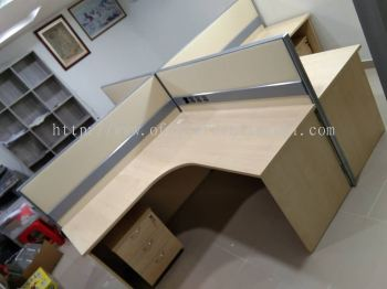 DELIVERY & INSTALLATION EXT 1515 L-SHAPE OFFICE TABLE l PARTITION OFFICE l OFFICE FURNITURE l SUBANG JAYA INDUSTRIAL ESTATE l SUBANG l SELANGOR