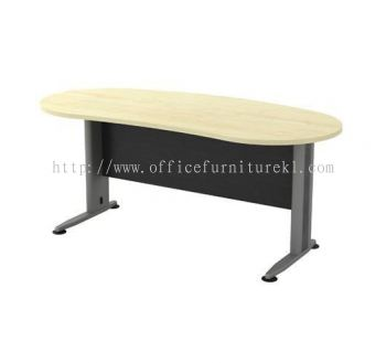 TITUS OVAL SHAPE EXECUTIVE OFFICE TABLE / DESK (W/O TEL CAP) ATMB 33 (Color Maple) - executive office table Segambut | executive office table Setia Alam | executive office table Bangsar South | executive office table New Design