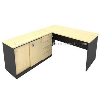 5' WRITING OFFICE TABLE / DESK C/W SIDE CABINET AGT157 (Color Maple) - writing office table Bandar Botanic | writing office table Tropicana Metropark | writing office table Taman Perindustrian Glenmarie | writing office table Ready Stock