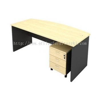6' EXECUTIVE OFFICE TABLE D SHAPE C/W MOBILE PEDESTAL 3D AGMB180 (Color Maple) - executive office table Bukit Damansara  | executive office table Titiwangsa | executive office table Taman Subang Mewah | executive office table New Year Sale