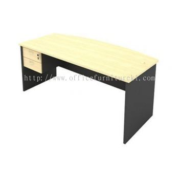 6' EXECUTIVE OFFICE TABLE D SHAPE C/W HANGING PEDESTAL 2D AGMB180 (Color Maple) - executive office table Uep Subang Jaya  | executive office table Empire City | executive office table Kawasan Perindustrian Temasya | executive office table Mid Year Sale