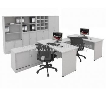 5' OFFICE TABLE | STUDY TABLE | COMPUTER TABLE C/W SIDE CABINET SET AGT 157 FO (Color Grey) - office table Pandan Jaya | office table Danau Kota | office table Taman Perindustrian Subang | office table Top 10 Best Recommended