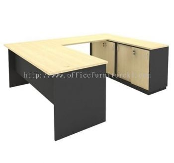 5' U SHAPE TABLE WITH DUAL LOW CABINET SET