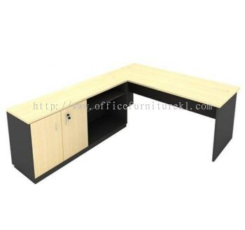 5' OFFICE TABLE WITH DUAL  SIDE CABINET SET