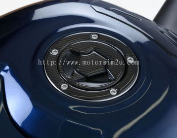 Red Dynamic Carbon Fibre Fuel Cap Protector for 'most' Kawasaki models