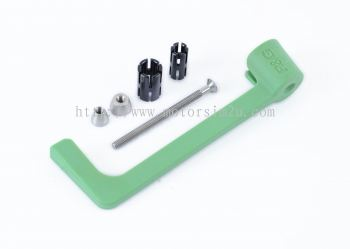 Moulded Lever Guard for Kawasaki ZX-6R '05- and ZX10R '06-