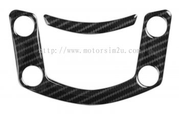 Red Dynamic Carbon Fibre Yoke Pad for the Kawasaki ER6N & F '09-11
