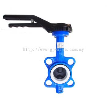 AUTOMA BUTTERFLY VALVE C/I BODY PTFE SEAT TEFLON COATED SS304 DISC FOR CHEMICAL