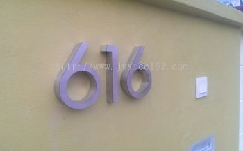Stainless Steel Numberic Door Plate