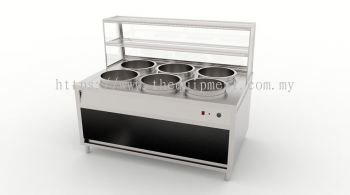 Six Pot Display Bain Marie Counter