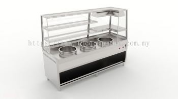 Three Pot Display Bain Marie with Warmer Counter