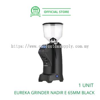 EUREKA GRINDER NADIR E 65mm Black - Commercial | Stepless Micrometric | Flat Burr | Coffee Bean