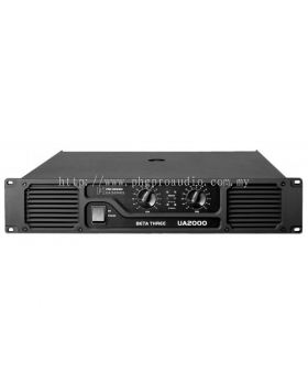Beta Three UA2000 2 x 1000W 8�� Power Amplifier