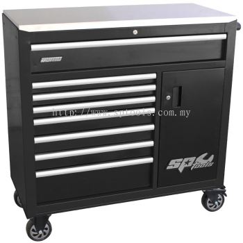 SP40118 SUMO SERIES ROLLER CABINET WITH POWER TOOL CUPBOARD & BUILT-IN POWER BOARD 9 Drawer