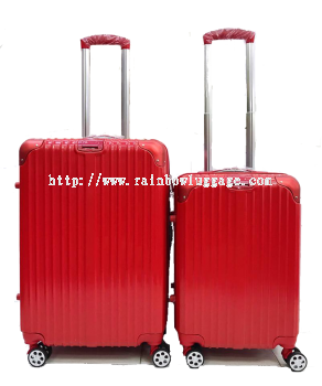 PC Zip Luggage Red