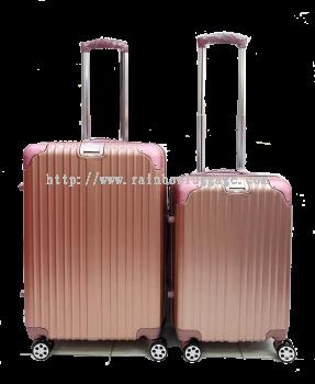 PC Zip Luggage Rose Gold