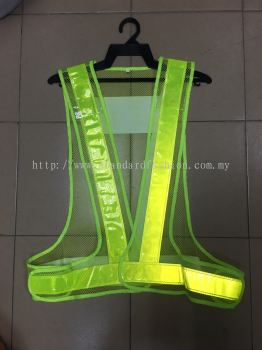 V Shaped Safety Vest Mesh Type (Adjustable)