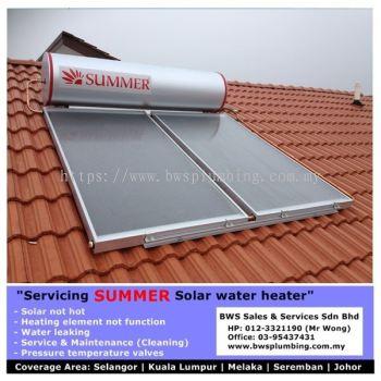 Summer Solar Water Heater | Install | Repair | Part Replacement - Batu Pahat