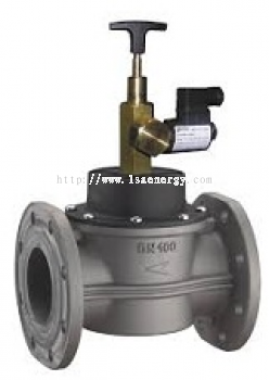 GAS SOLENOID VALVES N.O. 6 BAR DIMENSIONS FROM DN65 TO DN100