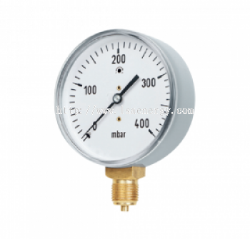 GAS GUAGE, CAPSULE PRESSURE GAUGES, BOTTOM CONNECTION, GAS-SPECIFIC VERSION, DN 63�C80�C100