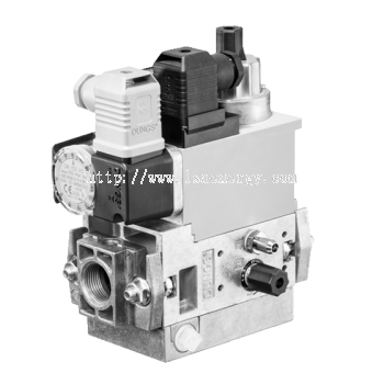 MB-D(LE) 407-412 B07: GasMultiBloc®, Control and safety combination, One-stage mode, Integrated bypa