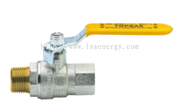 Art 1.222 Full Bore Ball Valve With Steel Lever, Male/Female, Nickel-Plated.