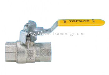 S1.231 Full Bore Ball Valve For Fuel Gas, Female/Female, With Steel Lever Lock