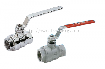 TENAX BALL VALVES IN STAINLESS STEEL WITH THREADS. FULL BORE DESIGN