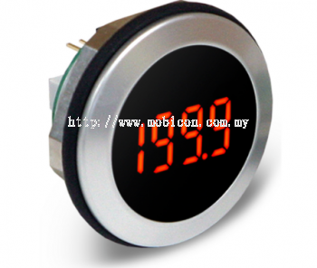 LASCAR EM32-1B-LED Round Hole Fitting LCD Voltmeter