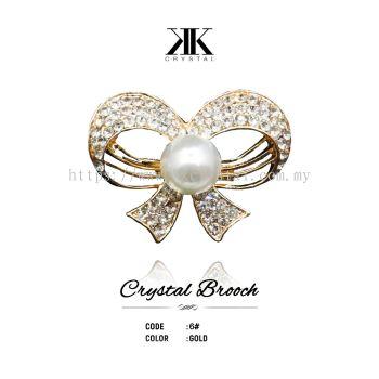 Crystal Brooch, 6#, GOLD