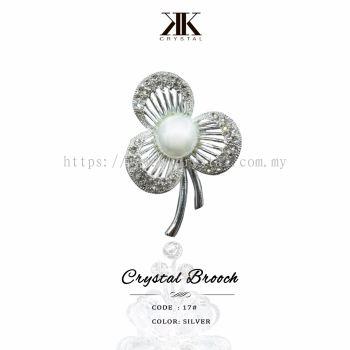 Crystal Brooch, 17#, Silver