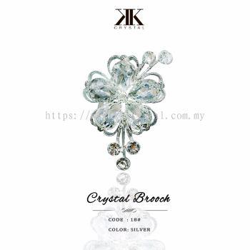 Crystal Brooch, 18#, Silver