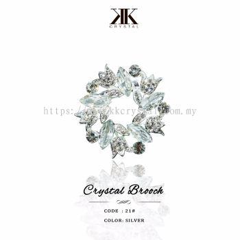 Crystal Brooch, 21#, Silver