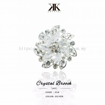 Crystal Brooch, 25#, Silver