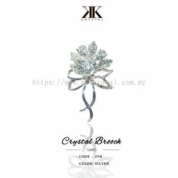 Crystal Brooch, 29#, Silver