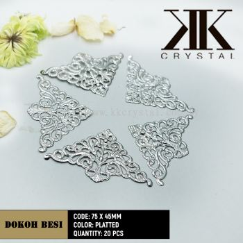 Dokoh Besi, Triangle 75 x 45mm, Plated, 20pcs/pack (BUY 1 GET 1 FREE)