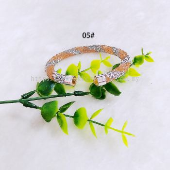 Bangle Bling2, 1 Layer, Twist Color, 05# Light Peach Silver