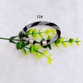 Bangle Bling2, 1 Layer, Twist Color, 12# Black Silver