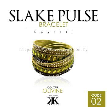 Slake Pulse Bracelet, Navette, 02# Olivine