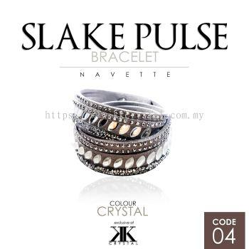 Slake Pulse Bracelet, Navette, 04# Crystal