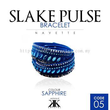 Slake Pulse Bracelet, Navette, 05# Sapphire