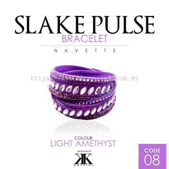 Slake Pulse Bracelet, Navette, 08# Light Amethyst
