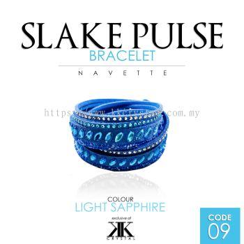 Slake Pulse Bracelet, Navette, 09# Light Sapphire