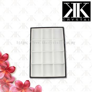 Displays, Beads Tray, White, 24x35x3cm, 12 Compartment