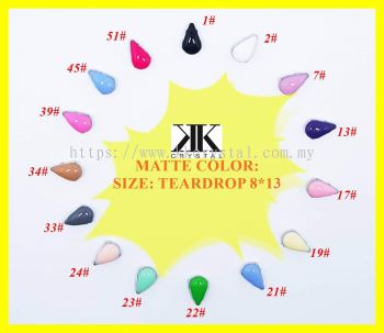 Chunky Beads, Teardrop, 8x13mm, A4_Matte Color, 30pcs/pack (BUY 1 GET 1 FREE)