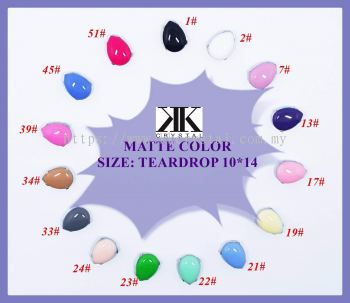 Chunky Beads, Teardrop, 10x14mm, A4_Matte Color, 20pcs/pack (BUY 1 GET 1 FREE)