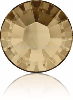 Swarovski Flat Backs Hotfix, 2038 SS10, Crystal Golden Shadow A HF (001 GSHA), 144pcs/pack