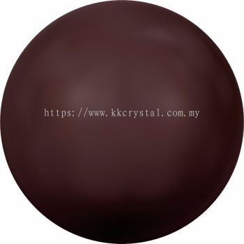 Swarovski 5810 Crystal Round Pearl, 08mm, Crystal Maroon Pearl (001 388), 50pcs/pack