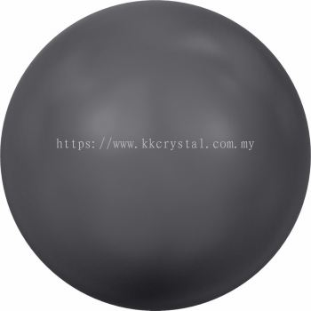 Swarovski 5810 Crystal Round Pearl, 08mm, Crystal Dark Grey Pearl (001 617), 50pcs/pack